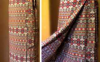 Юбка с запахом на завязках выкройка: одежда для похода в церковь
