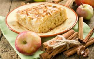 Правильная шарлотка с яблоками