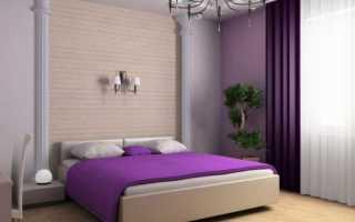 Какие цвета сочетаются с фиолетовым в интерьере, серый и сиреневый