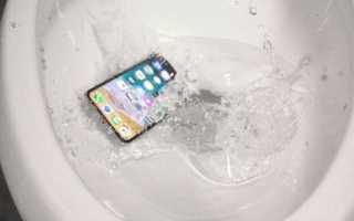 Телефон упал в воду: что делать, в том числе с Айфоном в унитазе, если гаджет не включается, не работает динамик