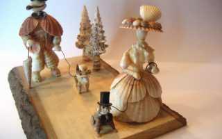 Что можно сделать из маленьких ракушек, поделки из рапанов своими руками
