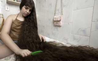 Женщина с самыми длинными волосами: аша мандела