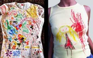 Рисунки на футболках своими руками акриловыми красками