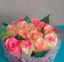 Розы из атласной ленты 5 см, как из ленточки сделать розочку?
