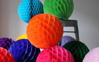 Шары из бумаги для украшения своими руками: объемные шарики