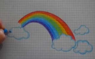 Рисуем радугу в детском саду – рисунки радужные легкие