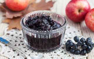 Варенье из яблок и черноплодной рябины рецепт
