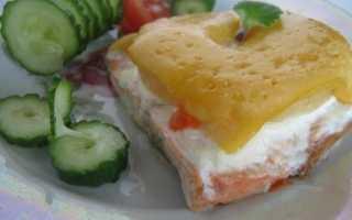 Горбуша по царски в духовке рецепт, рыба запеченная с ананасом и сыром