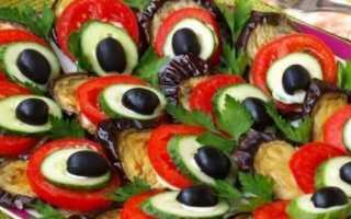 Павлиний хвост из баклажанов: пошаговый рецепт закуски с фото и видео