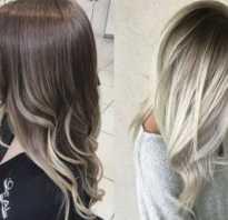 Омбре на русые волосы средней длины фото – амбре пепельного цвета