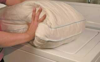 Как стирать подушки из перьев?