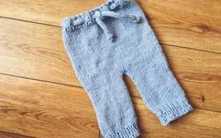 Как связать штанишки для малыша спицами, вязаные штаны для детей