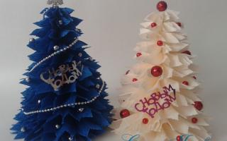 Поделки из гофрированной бумаги на новый год, новогодние украшения из гофробумаги