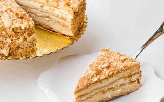 Торт наполеон из слоеного теста со сгущенкой