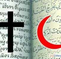 Таблица сравнение двух религий ислам и христианство – отличие православия от ислама