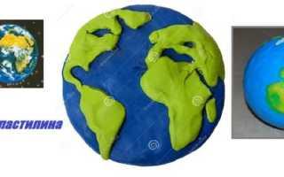 Земля из пластилина своими руками поэтапно, глобус макет