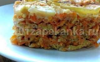 Запеканка из моркови и яблок
