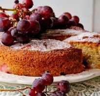 Пирог с виноградом рецепт с фото