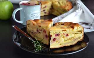 Пирог с яблоками и брусникой рецепт