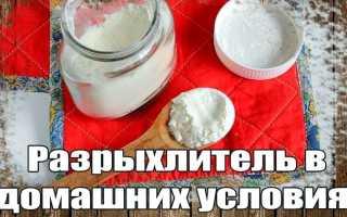 Как сделать разрыхлитель для теста в домашних, пекарский порошок рецепт