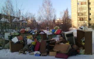 Выкинуть мусор, можно ли выбросить старую мебель на помойку