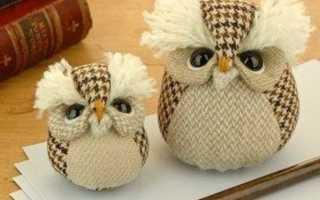 Как сделать сову из ткани своими руками: шьем совушек