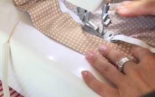 Как пришить широкую резинку к юбке?