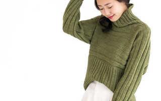 Как связать ворот у свитера спицами, вязаные кофты с воротником
