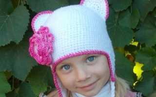 Связать шапку крючком для девочки на зиму
