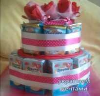 Сладости в садик на день рождения – торт из соков и барни своими руками