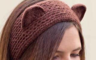 Вязаные повязки на голову крючком схемы, повязочки для девочек