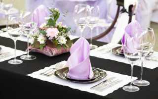Сервировка стола к праздничному обеду, раскладка столовых приборов по этикету