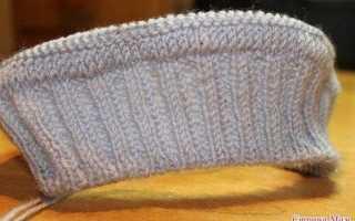 Мужской свитер спицами реглан от горловины