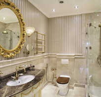 Интерьер ванной комнаты в классическом стиле